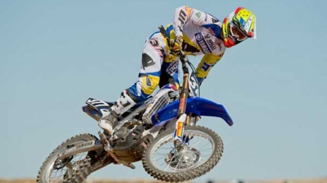 Chris Pourcel al National MX con il Team Valli Yamaha